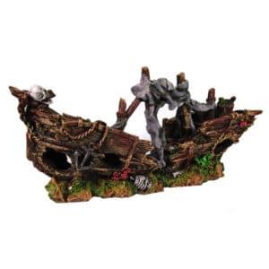 POLYRESINE SHIPWRECK 1 47x14x22 CM