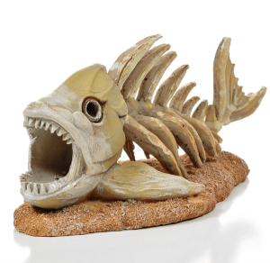 Piranha-skelet-aquarium-decoratie