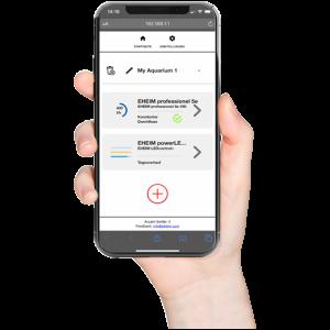 eheim professionel 5 via app met wifi